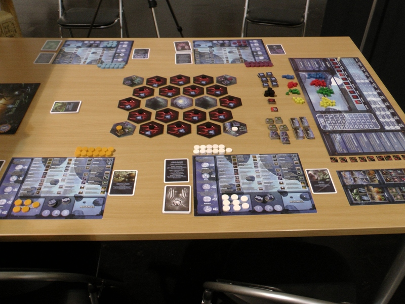 Omega Centauri set up at Essen Spiele 2014
